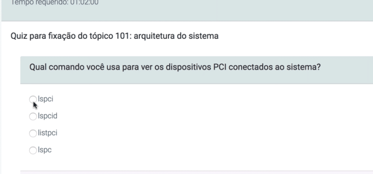 Simulados do Certificação Linux
