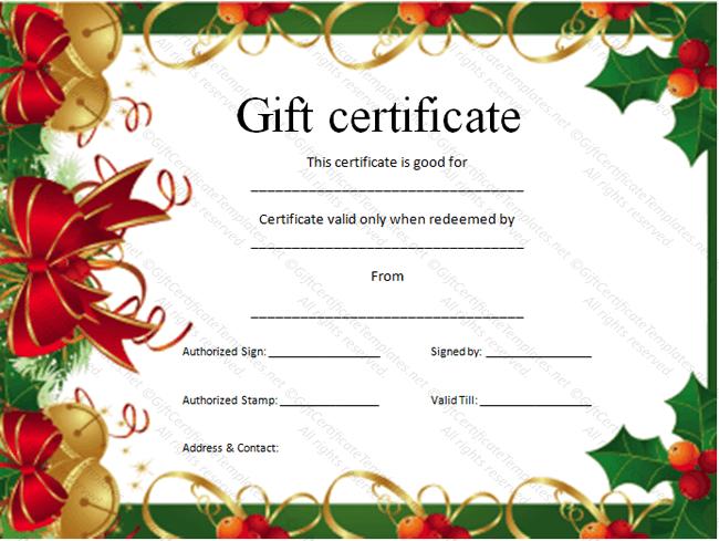 Christmas Certificate Border.Christmas Gift Certificate Border Zoro Braggs Co