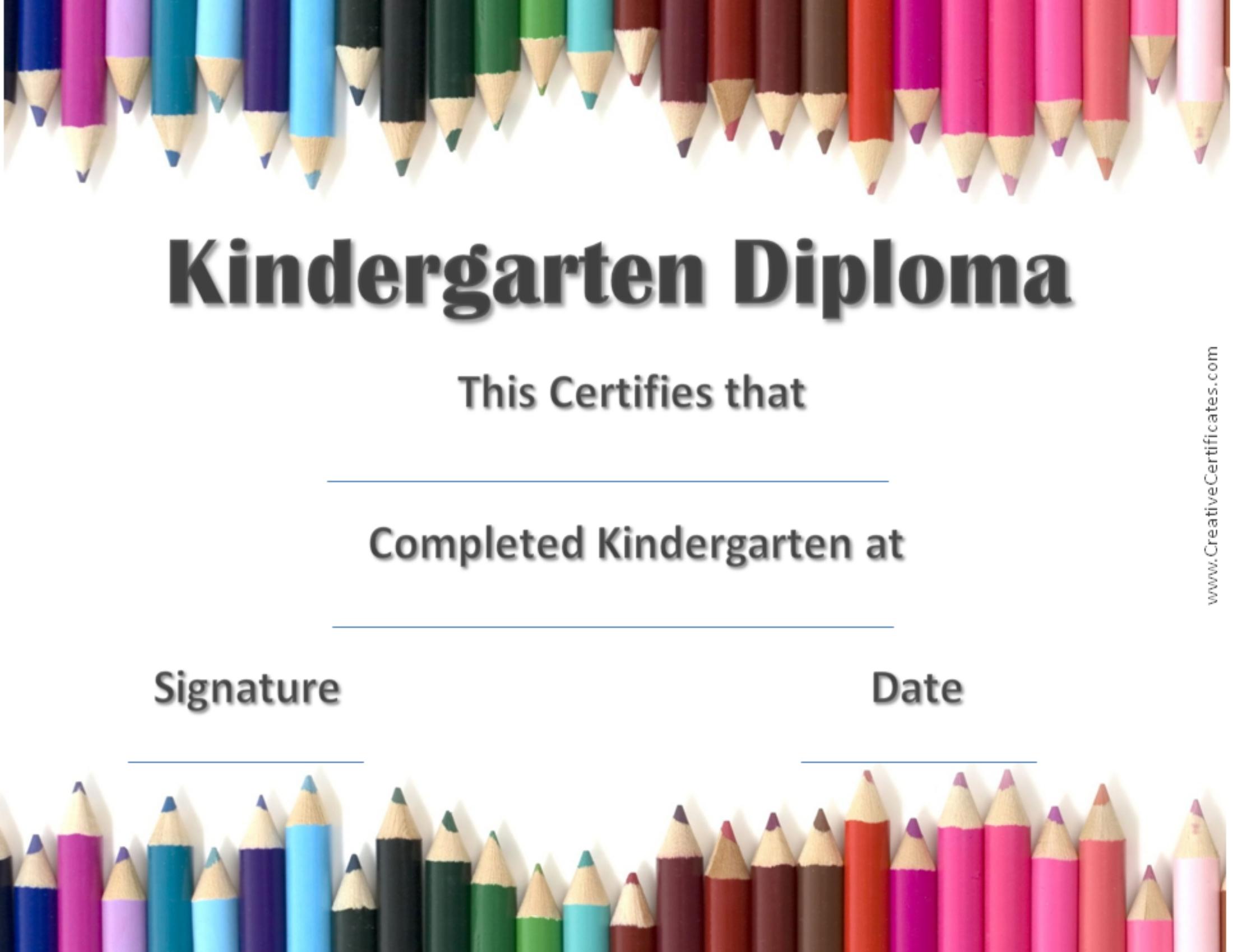 Kindergarten Graduation Printable