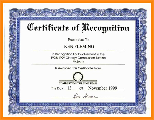 Certificate Wording certificates templates free