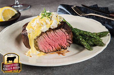 Grilled Filet Mignon with Crab Hollandaise - Certified