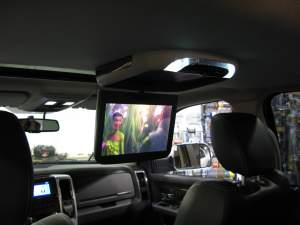 Dodge Ram Rear Seat Entertainment Screen Installation