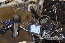 Moto Guzzi Audio Install - Stereo Speakers & Controller on Handlebars