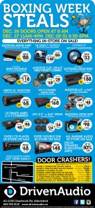 Boxing Day 2015 Car Audio Sale