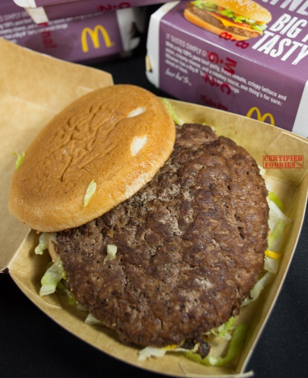 McDonald's McSpicy, Big N Tasty, and Black and White Burgers