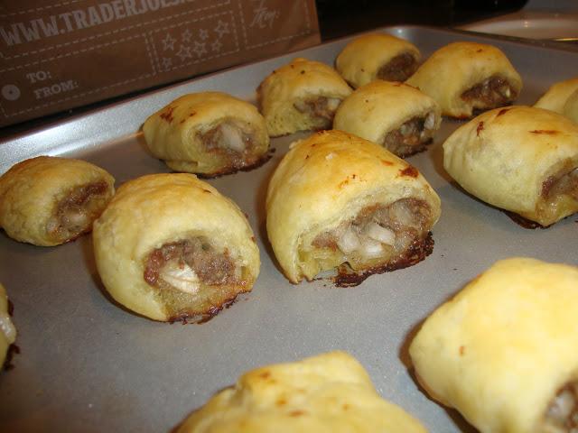 Aussie Sausage Rolls On A Cookie Sheet