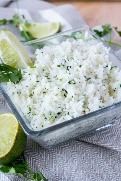 Cilantro Lime Rice - Fluffy basmati rice mixed with fresh cilantro and lime juice. Just like the rice at Chipotle but now you can make it home!