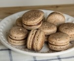 zoomed in shot of Nutella Macarons on a plate