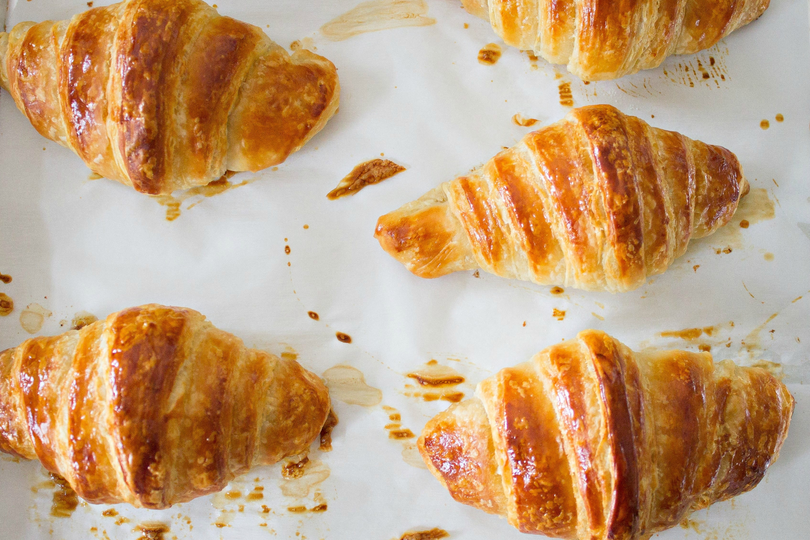 Tray of  four Classic Butter Croissants