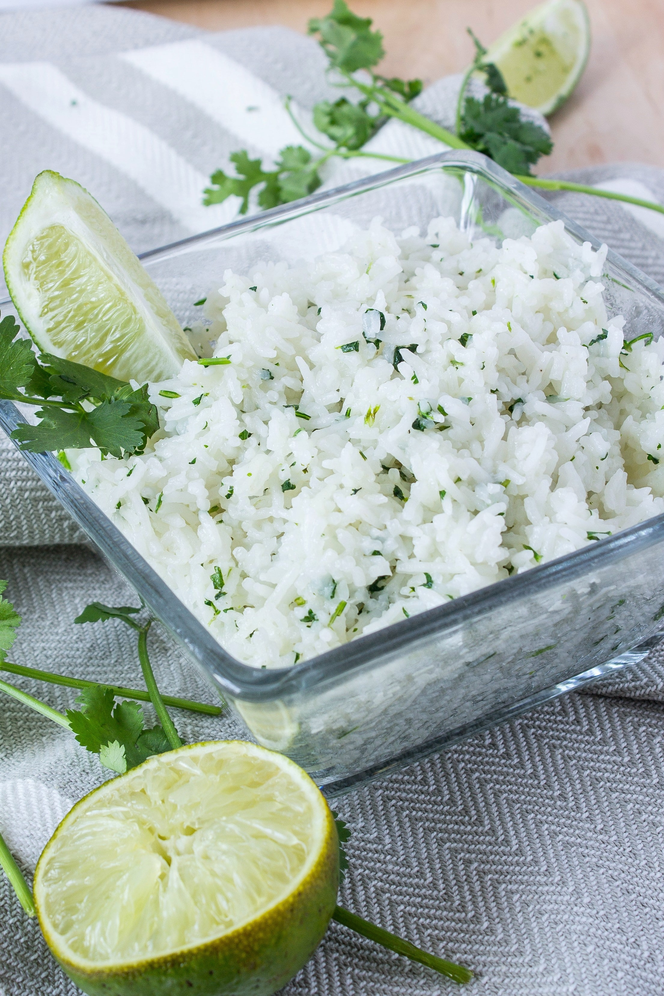 Cilantro lime rice. Just like the rice at Chipotle but now you can make it home!