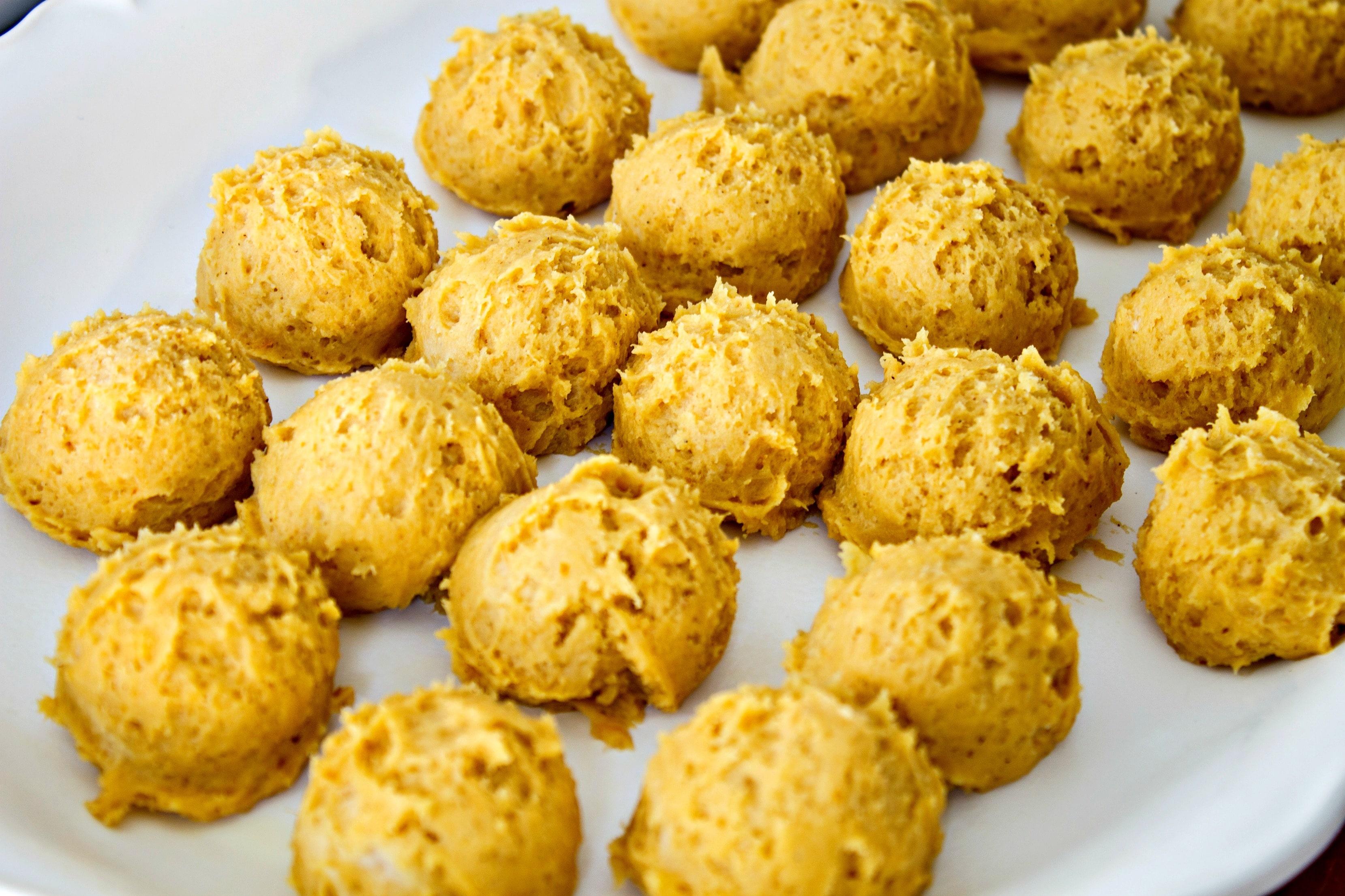 pumpkin spice snickerdoodle cookie dough balls