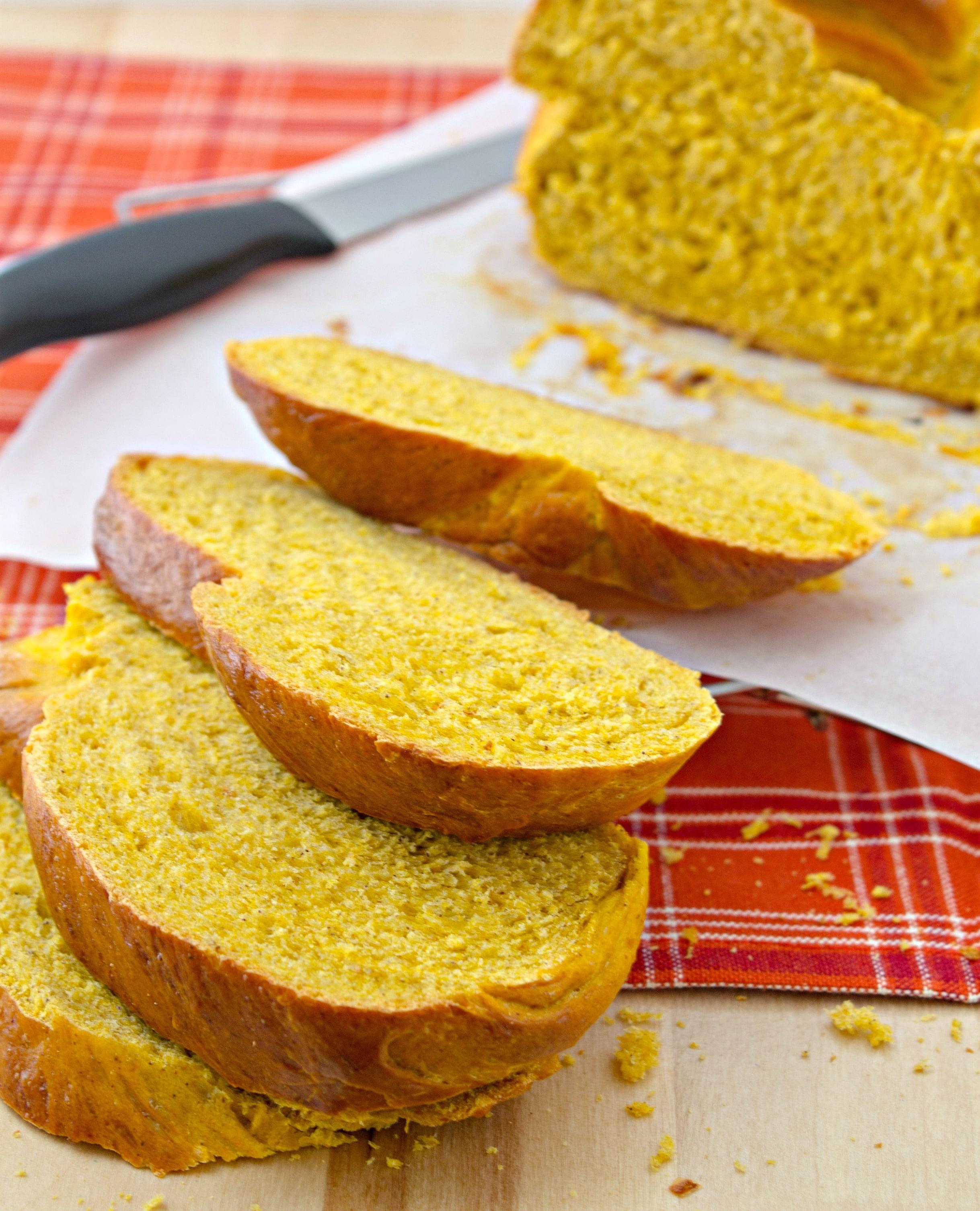 pumpkin challah bread