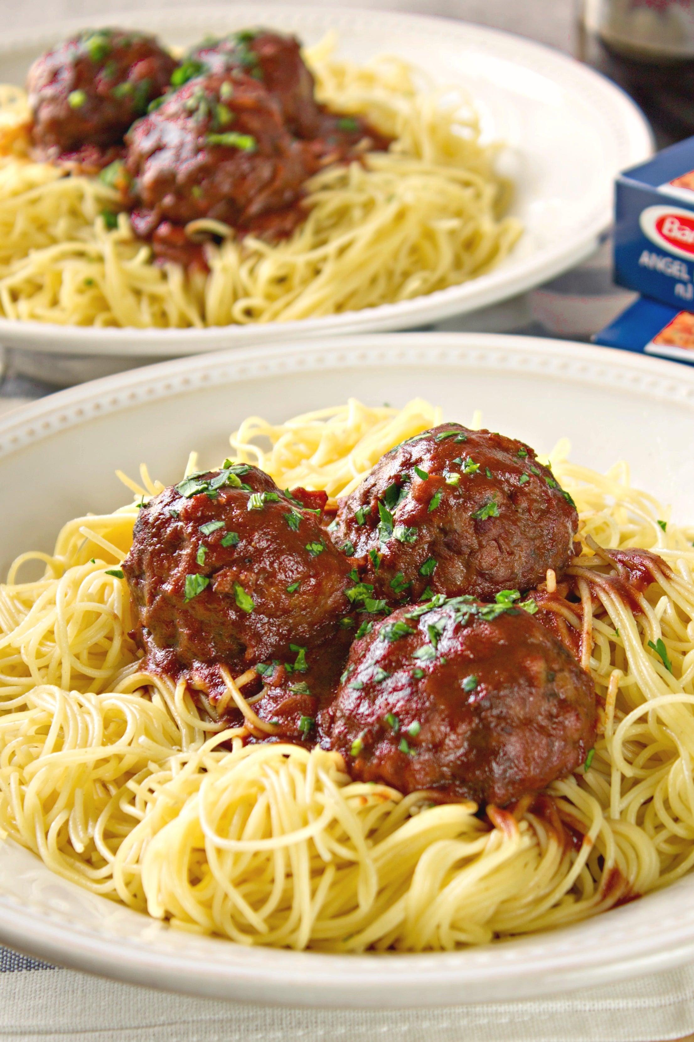 drunken spaghetti and meatballs