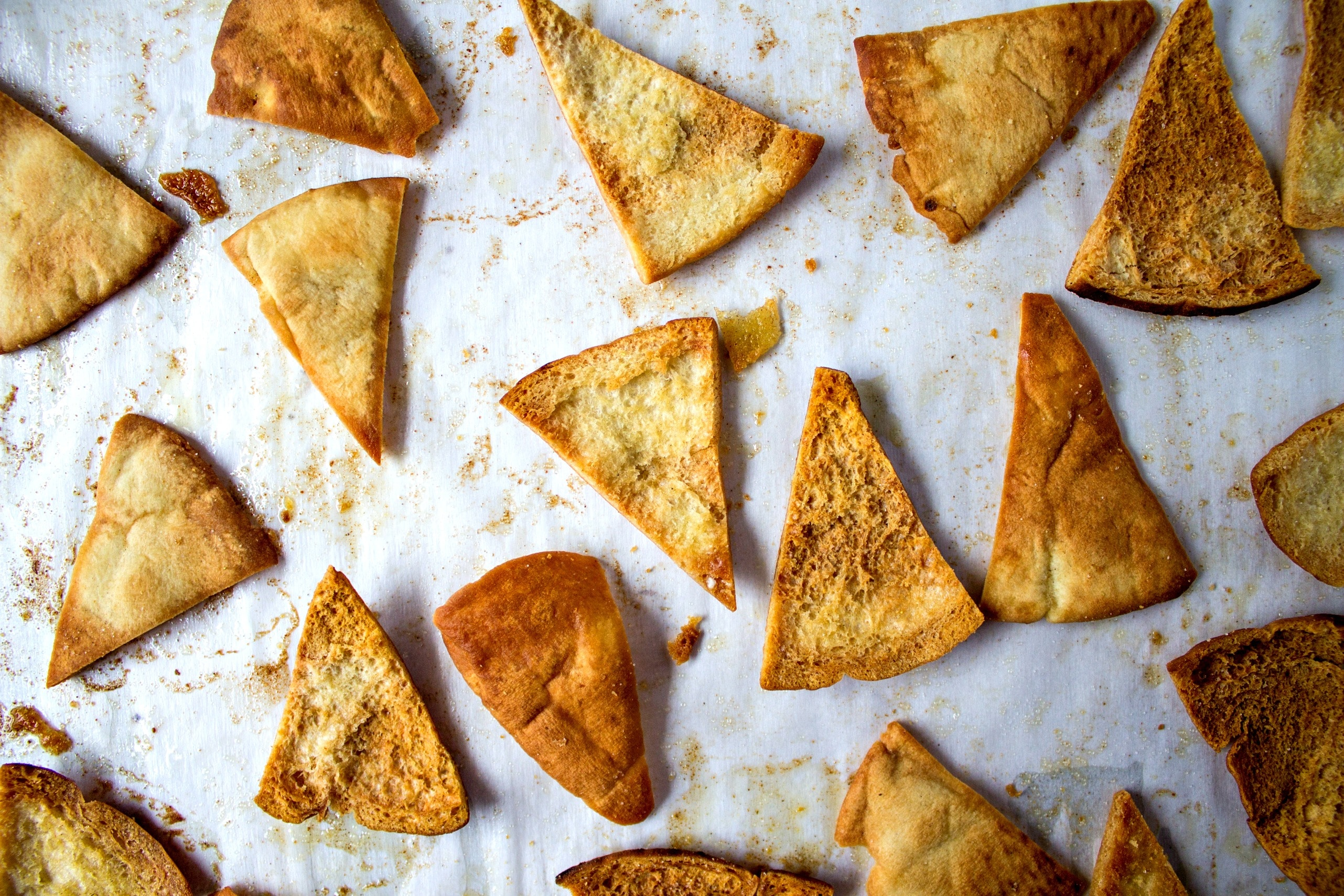 Sage and Browned Butter Chips cut into triangles