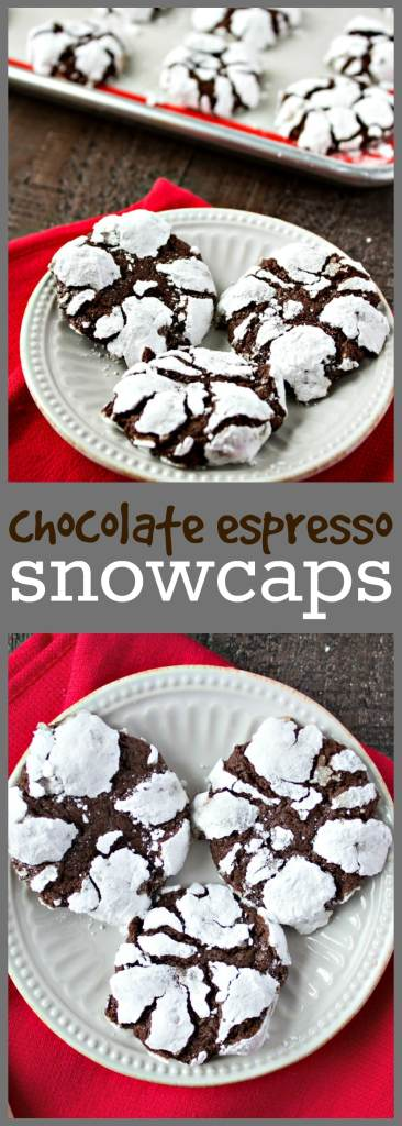 Chocolate Espresso Snowcaps photo collage