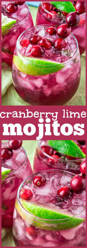 Cranberry Lime Mojitos photo collage