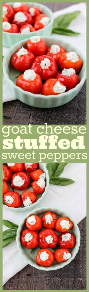 Goat Cheese Stuffed Sweet Peppers photo collage