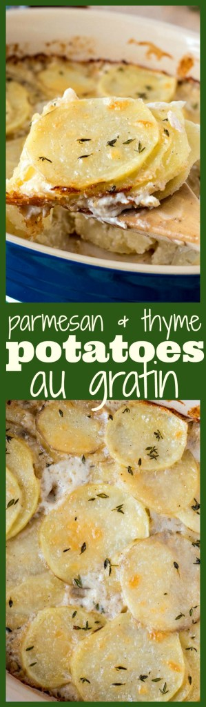 Parmesan & Thyme Potatoes Au Gratin photo collage