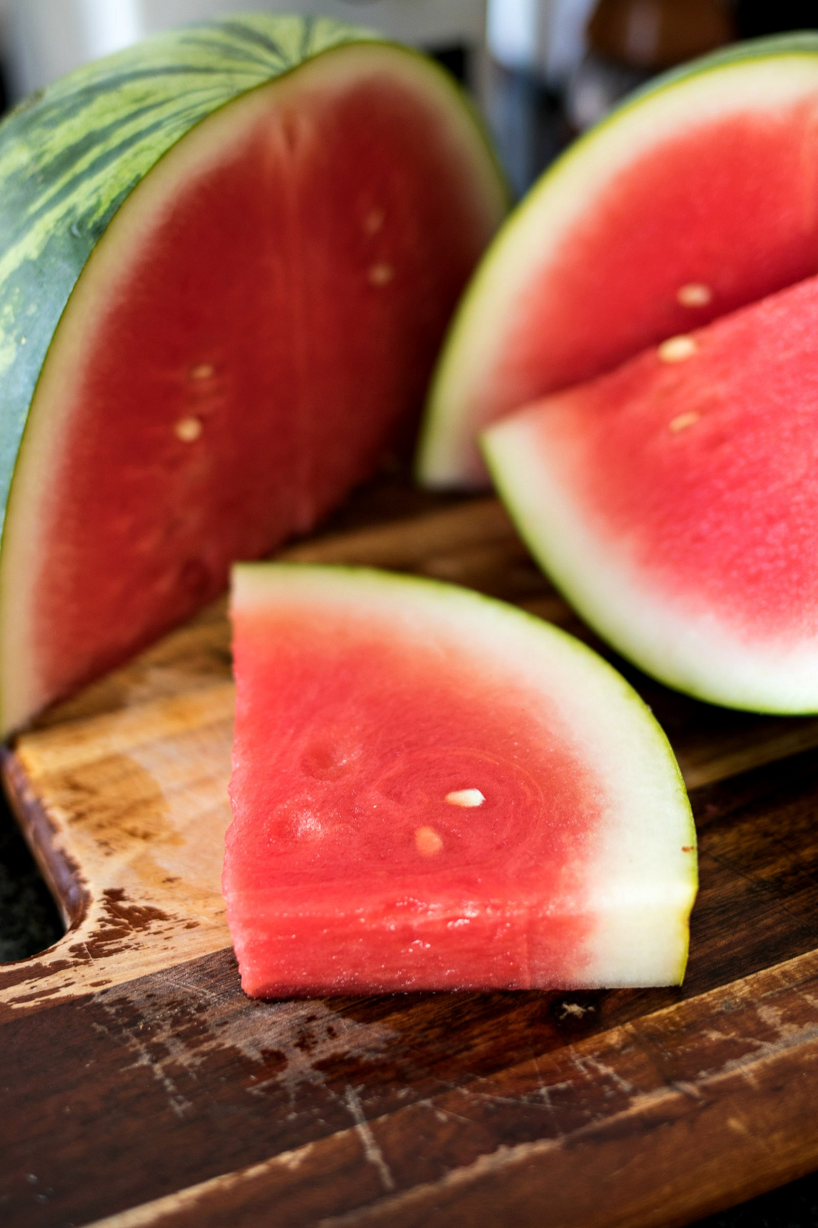 Watermelon cut into pieces