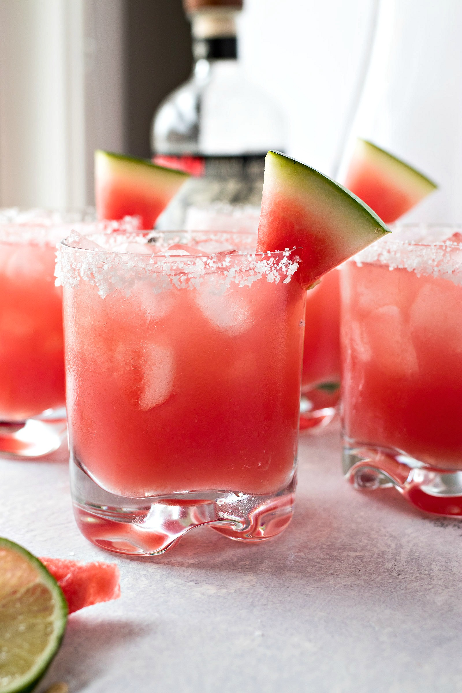 Glasses of Watermelon Margaritas