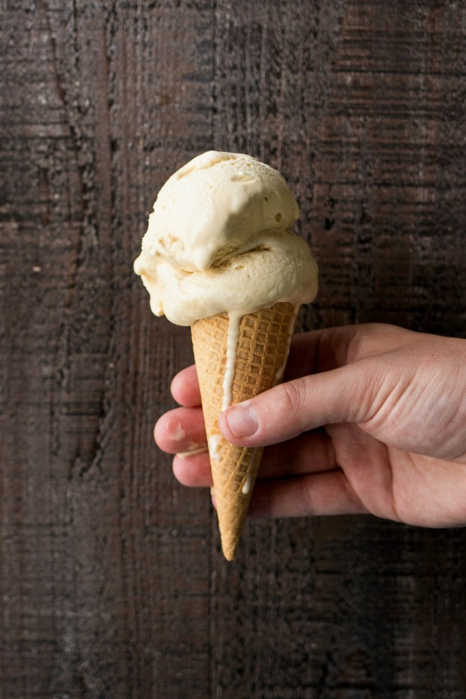 Salted Caramel Ice Cream - The creamiest ice cream you will ever have! Made with homemade caramel, this custard-based ice cream is super decadent and rich and worth every single calorie.