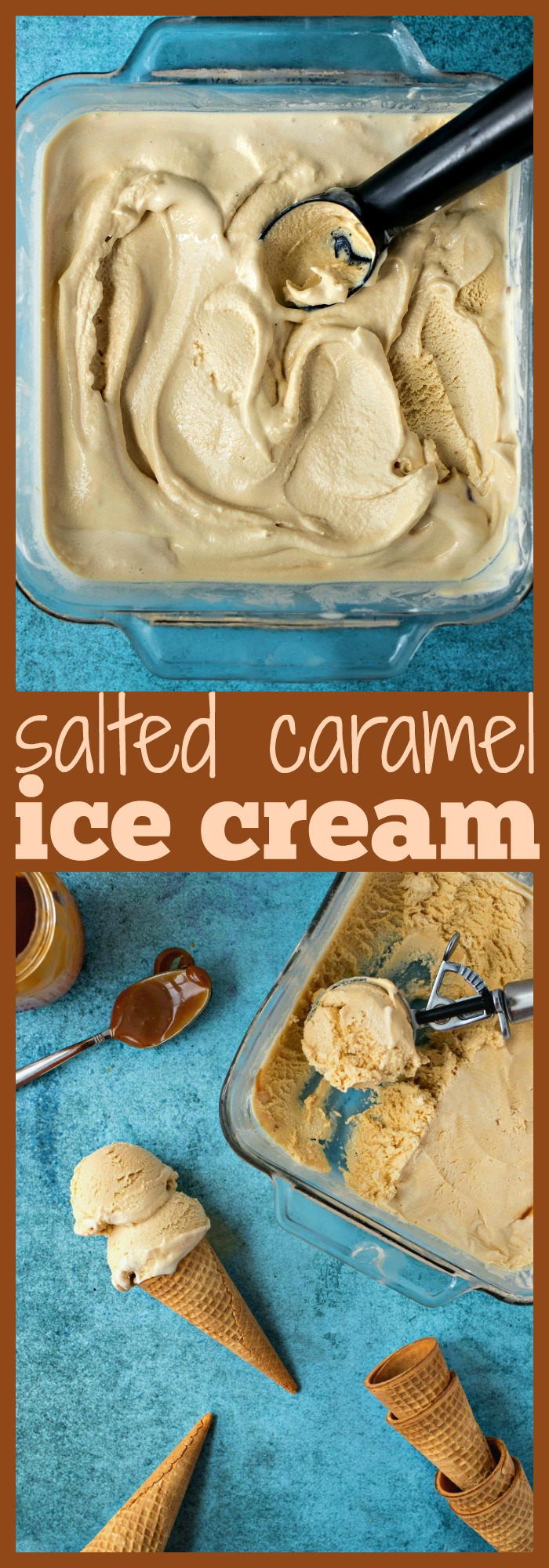 Salted Caramel Ice Cream photo collage