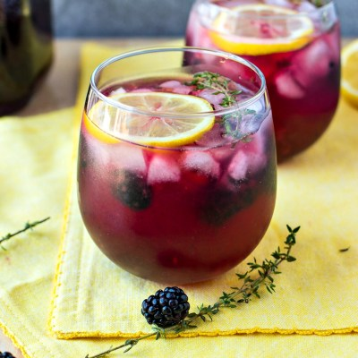 Blackberry Lemon Vodka Punch