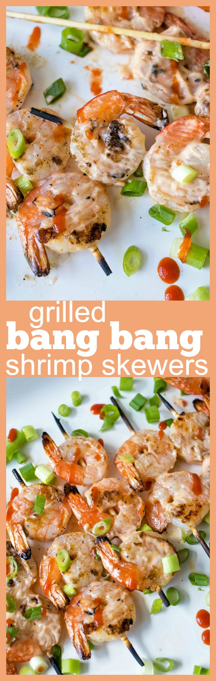 Grilled Bang Bang Shrimp Skewers photo collage