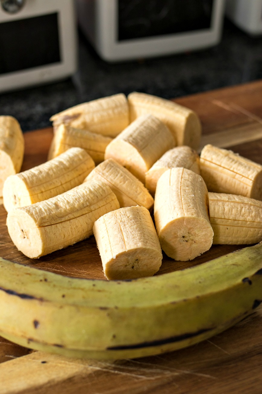 Slices of plantains