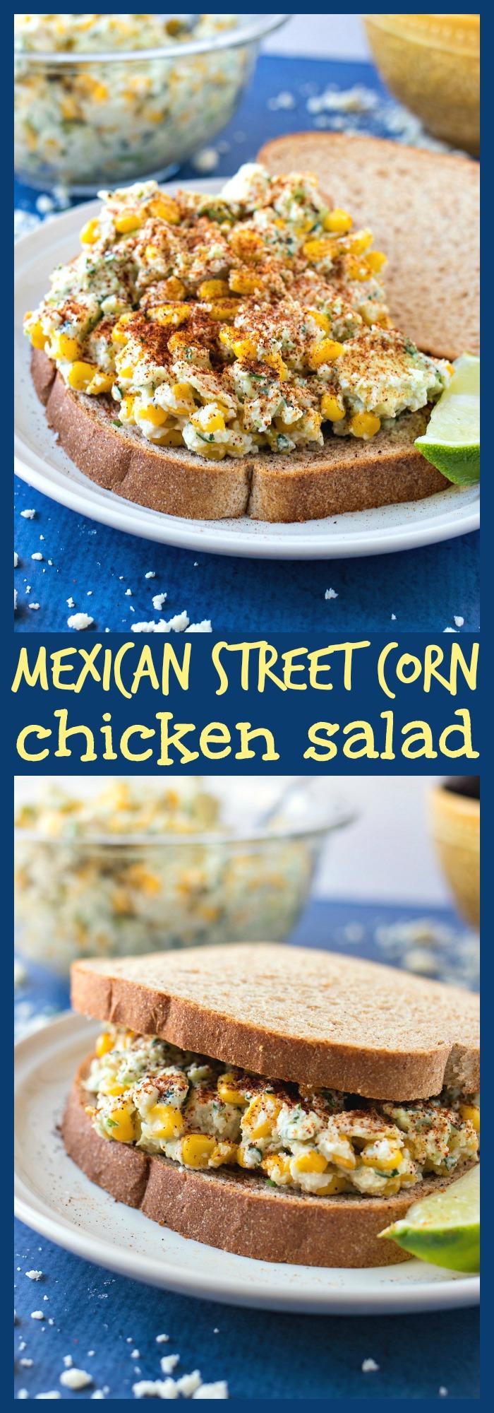 Mexican Street Corn Chicken Salad photo collage