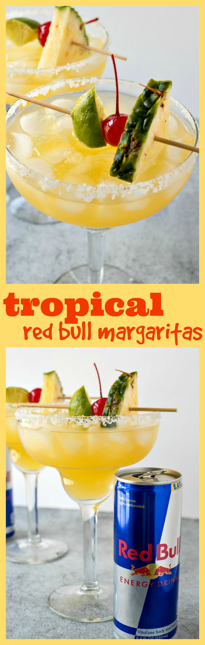 Tropical Red Bull Margaritas photo collage
