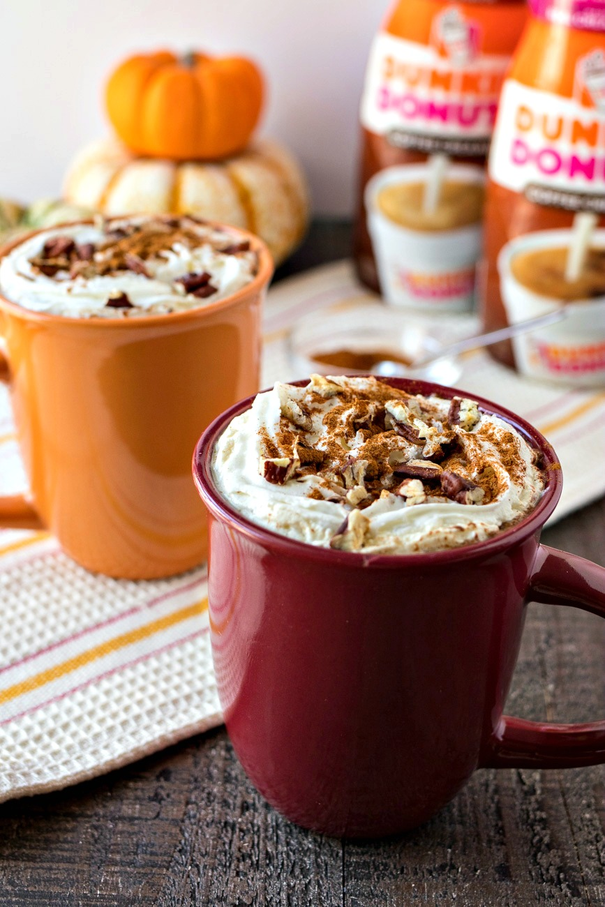Two cups of Cinnamon Maple Latte