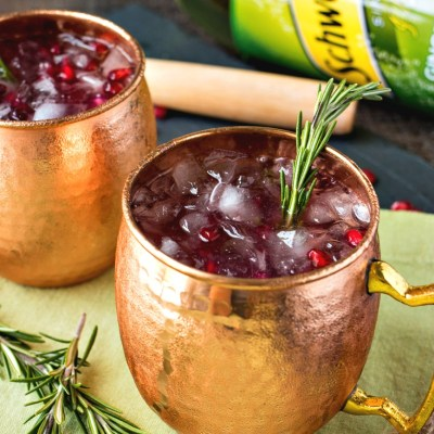 Pomegranate Rosemary Moscow Mule