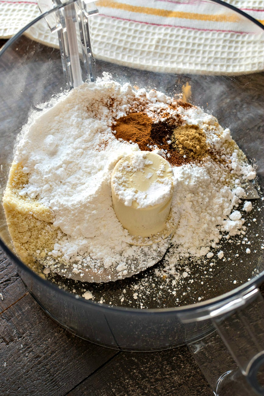 Dry ingredients before being mixed together