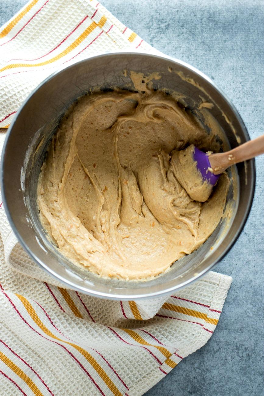Sweet Potato Cupcake batter being mixed