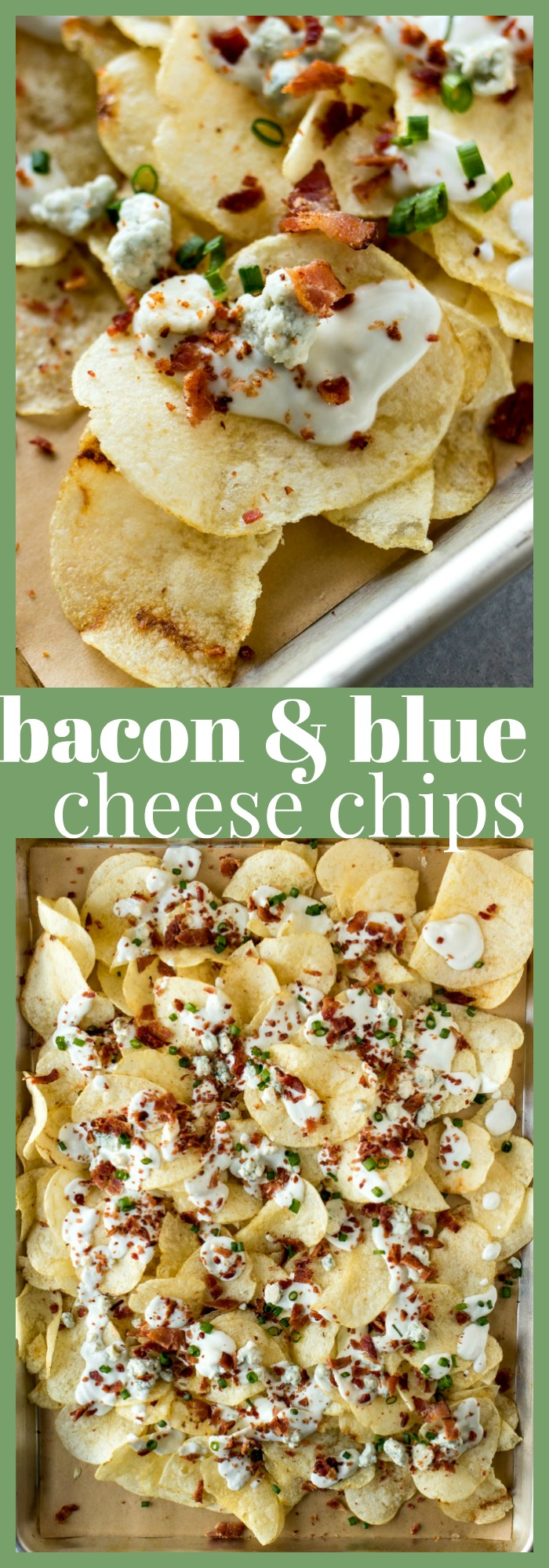 Bacon Blue Cheese Chips photo collage