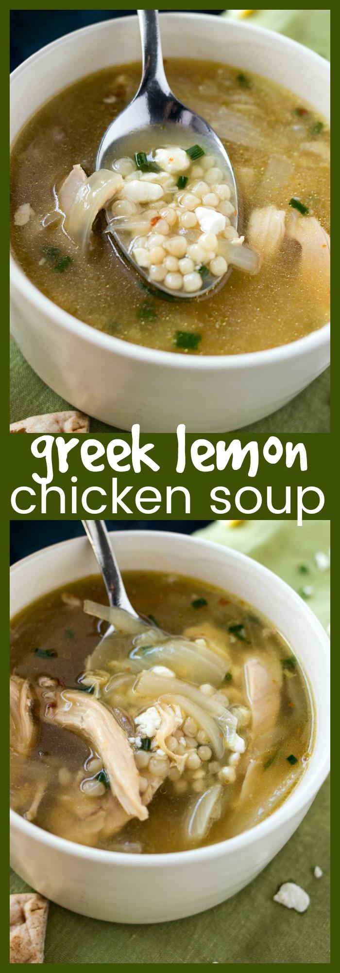 Greek Lemon Chicken Soup photo collage