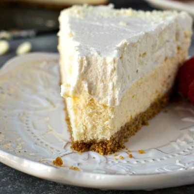 Vanilla Bean Cheesecake – Cheesecake made with vanilla beans and then layered with a vanilla bean white chocolate mousse. The creamiest, dreamiest cheesecake you've ever had!