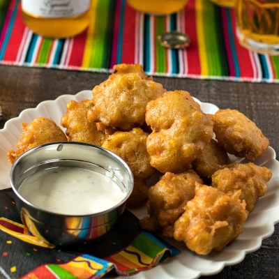 Beer Battered Corn Fritters