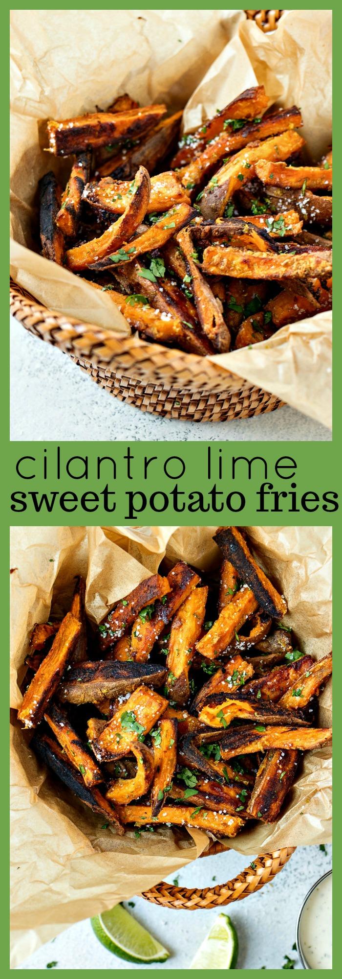 Cilantro Lime Sweet Potato Fries photo collage