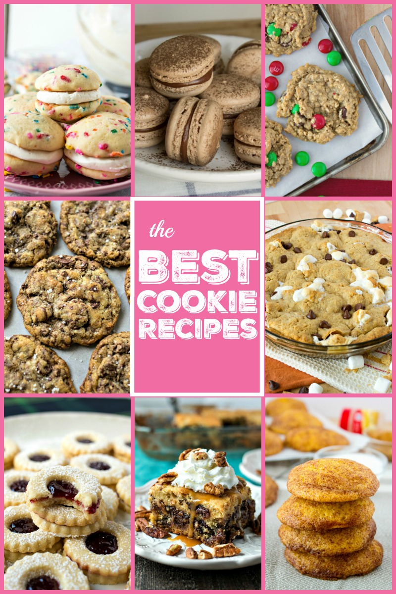 The best cookie recipes photo collage