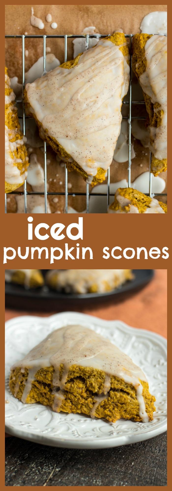 Iced Pumpkin Scones photo collage