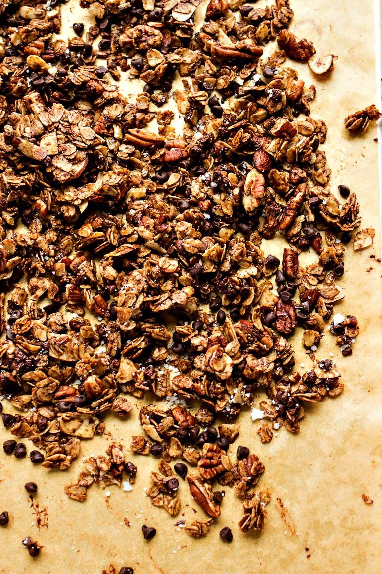 Closeup of the Chocolate Cinnamon Granola