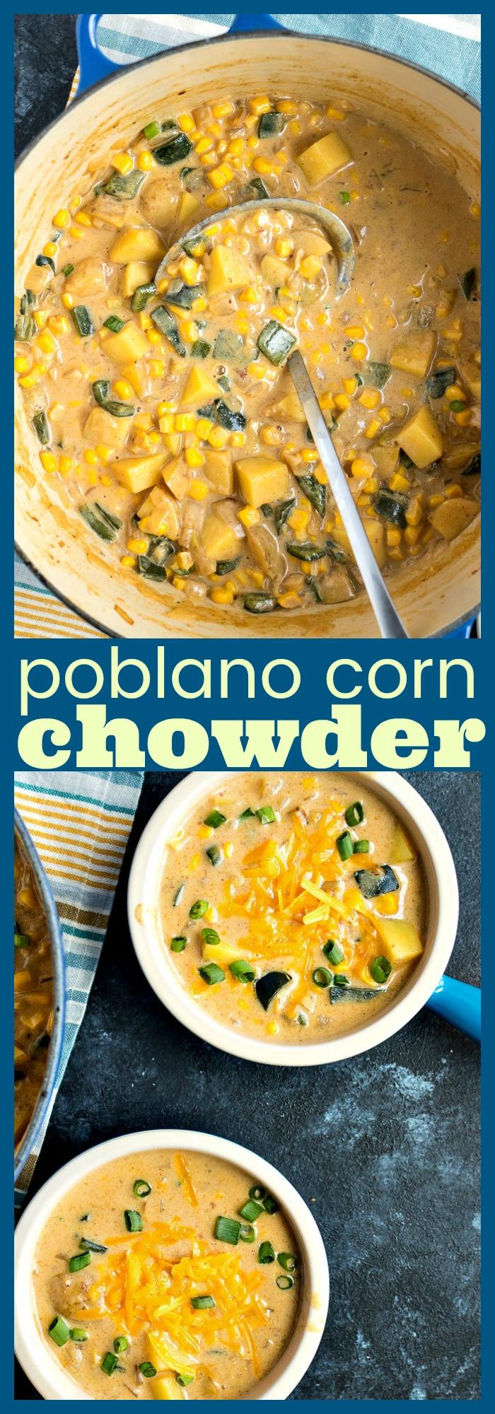 Poblano Corn Chowder photo collage