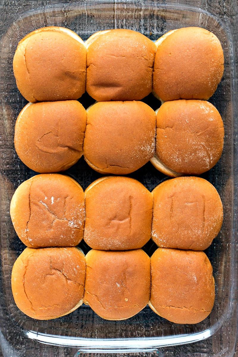 Pan of slider buns
