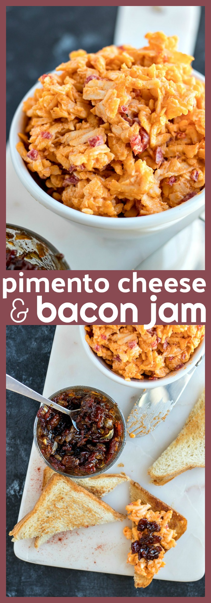 Pimento Cheese with Bacon Jam photo collage