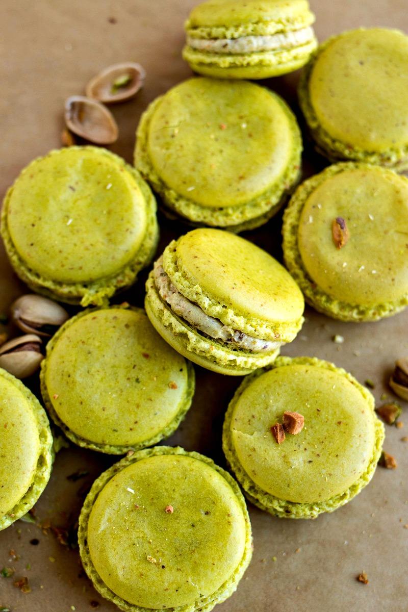 Bright green Pistachio Macarons