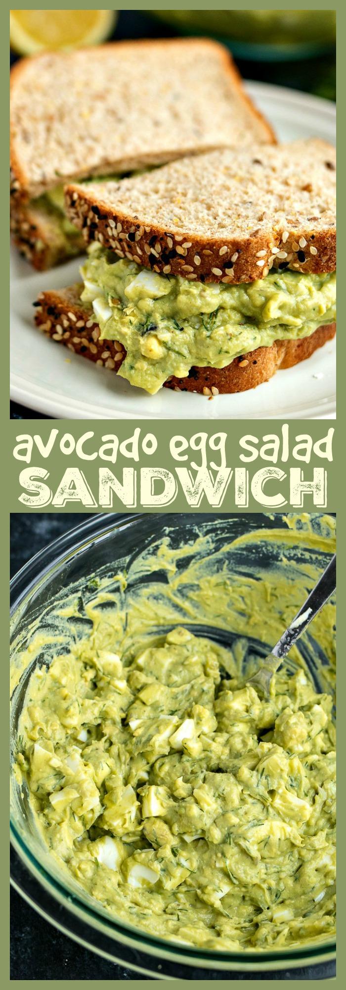 Avocado Egg Salad Sandwich photo collage