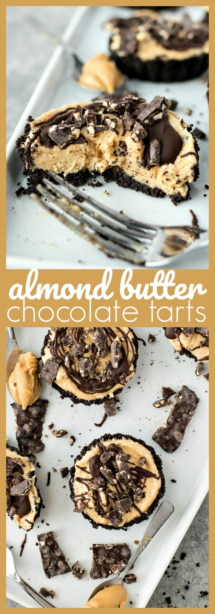 Almond Butter Chocolate Tarts photo collage
