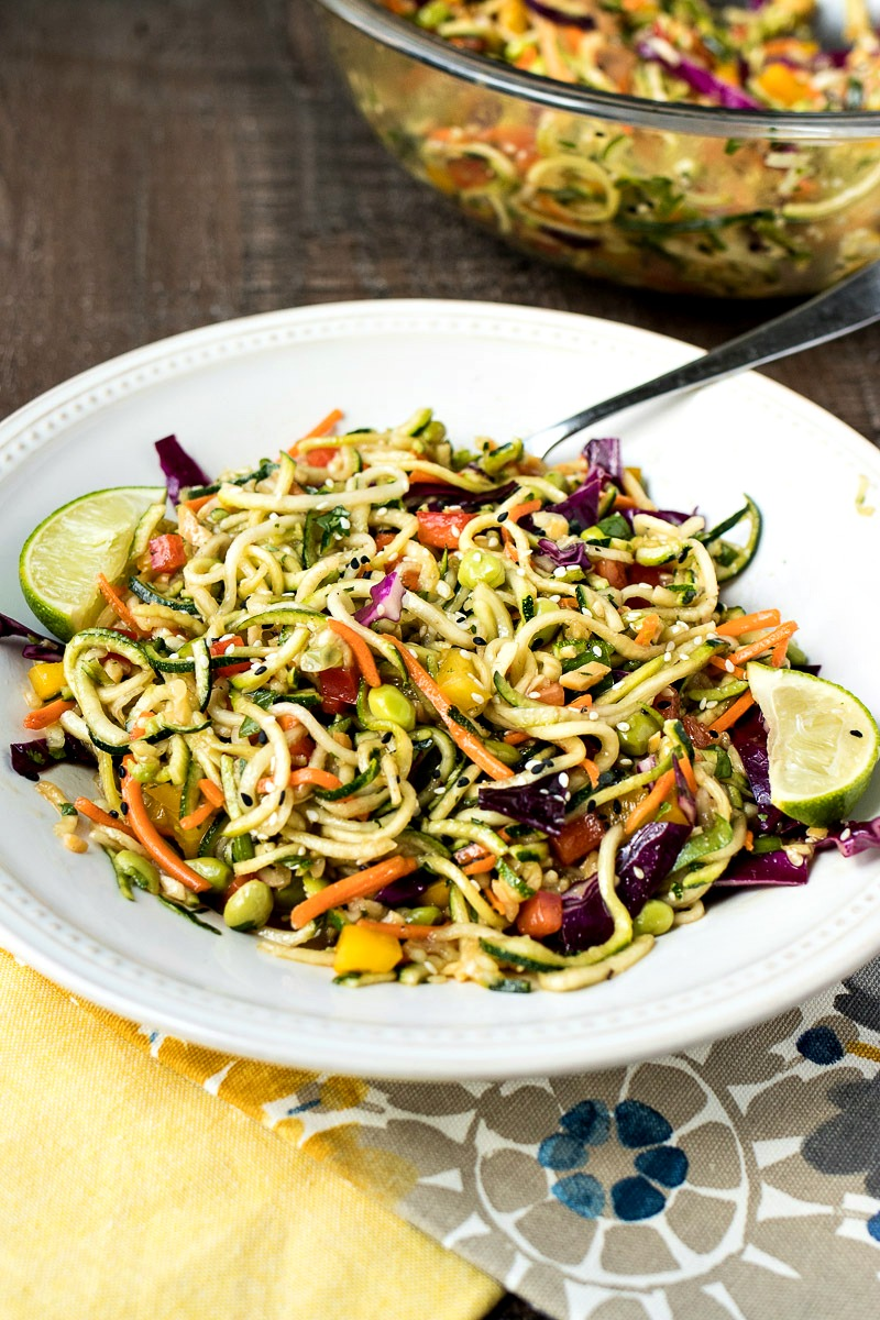 Bowl of Asian Zoodle Salad
